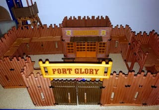 PLAYMOBIL --- FORT GLORY REF. 3806 OESTE SOLDADOS