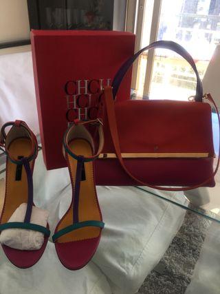 Bolso y Sandalias de Carolina Herrera