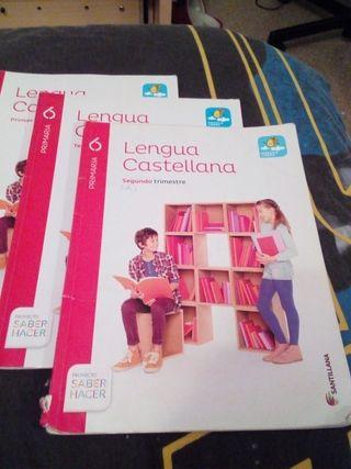 bloque de libros sexto primaria lengua castellana
