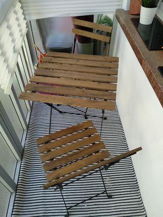 Mesa y 2 sillas jardín-terraza (Ikea)