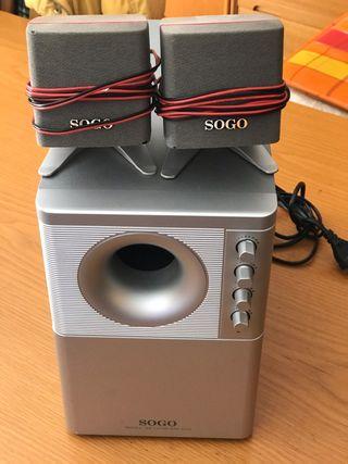 Sistema sonido dos altavoces