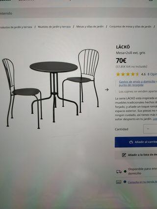conjunto de 4 mesas y 16 sillas lacko ikea