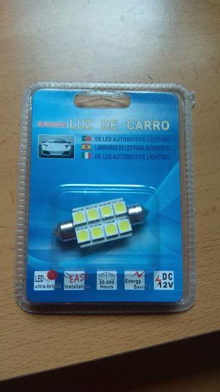Bombilla LED blanca para coche de 39mm