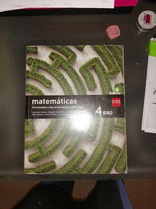 Libro Matemáticas de enseñanzas aplicadas.