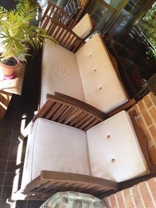 Conjunto sofá y sillones terraza