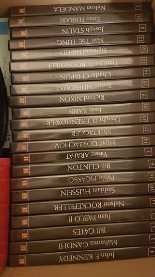 colección dvd,s personajes historicos