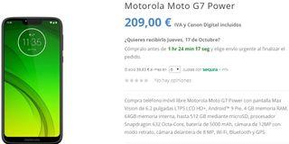 Motorola Moto G7 Power Nuevo Caja