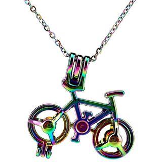 Collar bicicleta con perlas y pompones aromáticos