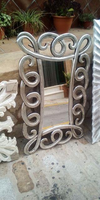 espejo plata plateado de diseño NUEVO