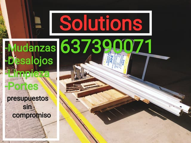 Solutions mudanzas, portes, limpieza, desalojos
