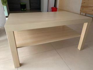 Mesa baja con balda abajo color beige