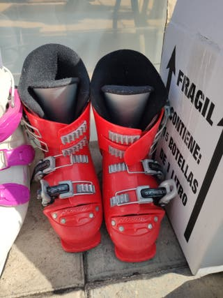 botas ski rojas infantiles talla 21