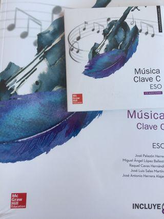 Música Clave C. Libro Alumno con 3 cds. Nuevo