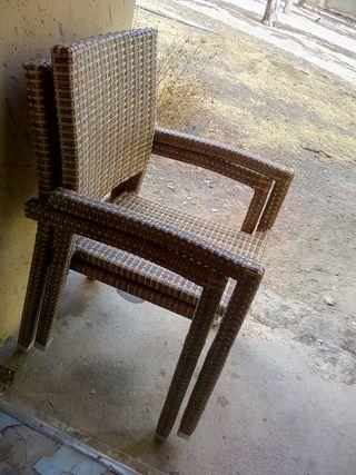 2 sillas de terraza