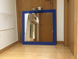 Espejo baño azul