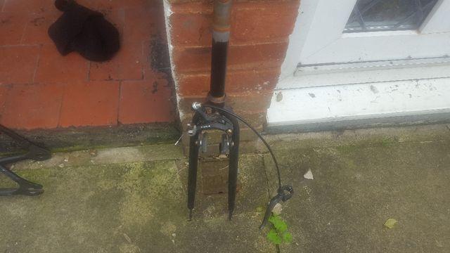 black bike frame