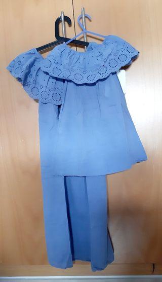Vestido para madre e hija azul