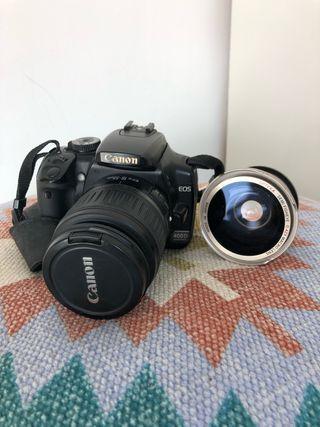 Pack Cámara Canon 400 D + objetivo+ 2 baterias