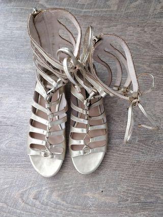 Sandalias doradas Romanas 36