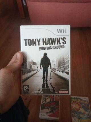 Juego Tony hawk's para wii
