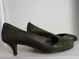 Zapatos de tacón piel Pull&Bear