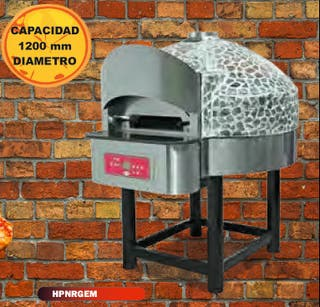 Horno de pizza no rotatorio a gas