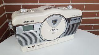 RADIO ESTILO VINTAGE (USB Y TARJETA)