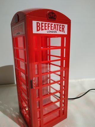 Cabina teléfono con luz Beefeater