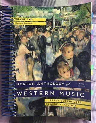 Libro Norton Anthology os Western Music
