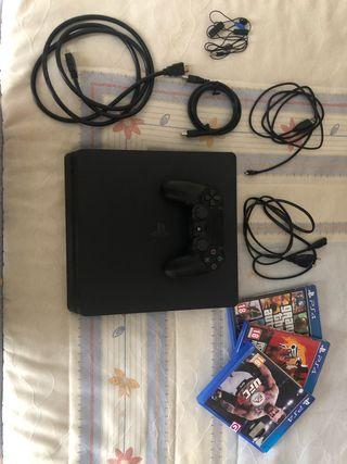 PS4 1Tb con mando y 3 juegos.