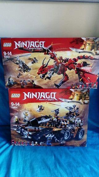 Lego Ninja Go Ninjago 70653 y 70654