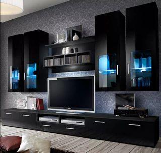 Mueble de Salón color negro (3 m)