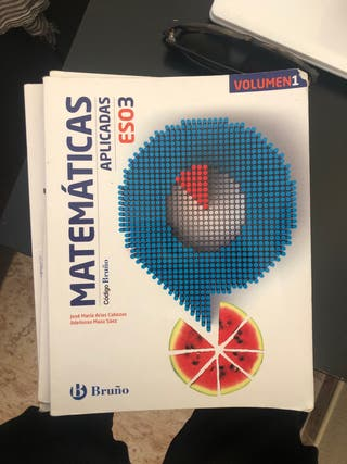 Libros de 2 ESO y matemáticas aplicadas de 3 ESO