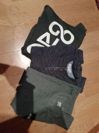 3 camisetas manga larga / jerseys
