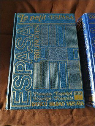 diccionarios de ingles y frances.