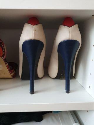 Zapatos tacón 13 m BLANCO