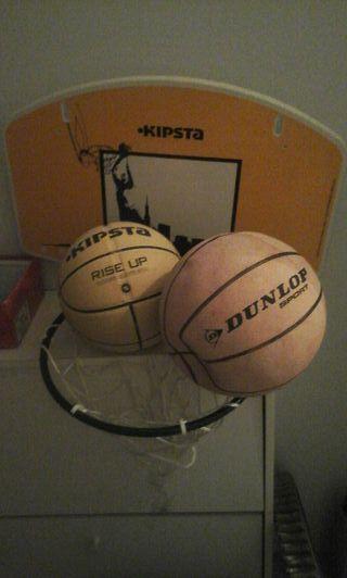Vendo canasta y balones de baloncesto