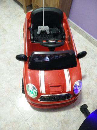 Coche Mini Cooper con radio control.