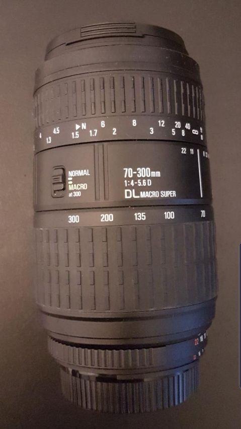 Objetivo SIGMA 70-300mm f/4-5.6D para NIKON