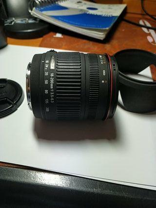 Objetivo Sigma 18-200 para Sony A