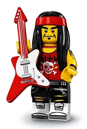 Minifigura Lego serie ninjago Gong Guitar Rocker