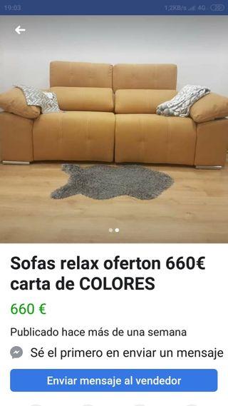 Sofá desde 650€ 2 Plazas relax últimos días