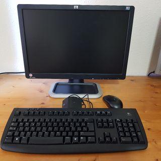 Monitor 19 pulgadas HP L1908w, teclado y ratón