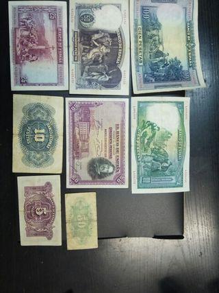 Billetes antiguos de las pesetas