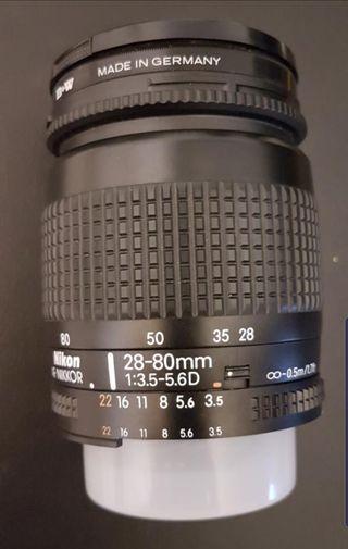 Objetivo NIKON 28-80mm f/3.5-5.6D