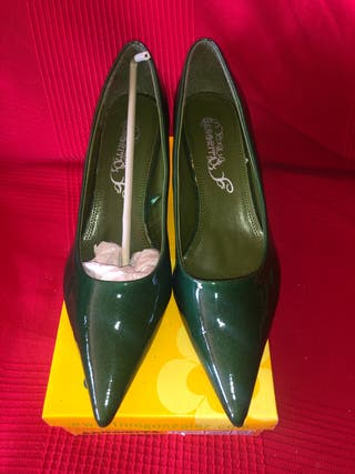 Zapatos de tacón verdes Talla 40