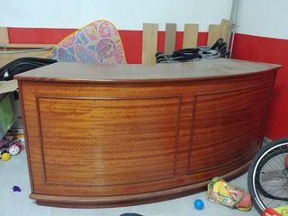 carrillo hinchable nuevo y barra mobil de madera