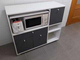 Mueble armario auxiliar con cajon y mesa extraíble