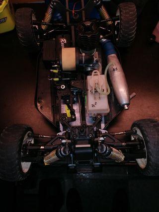 coche rc gasolina con motor servos y emisora