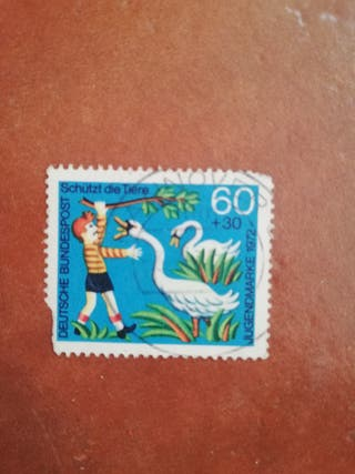 sello Deutsche bundespost 60